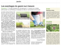 Article Gazon placage Ouest France